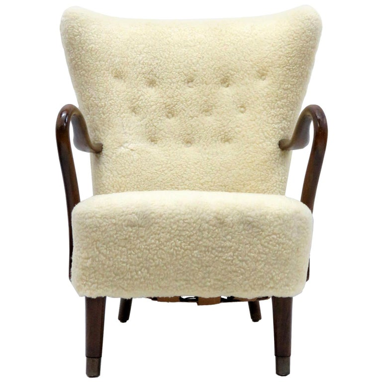 Alfred Christensen Lounge Chair, 1940 For Sale