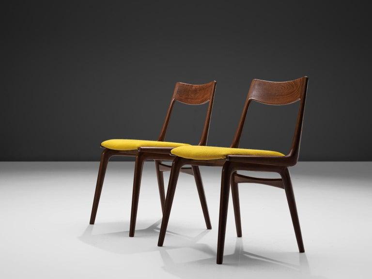 Danish Alfred Christensen Set of 'Boomerang' Chairs in Teak For Sale