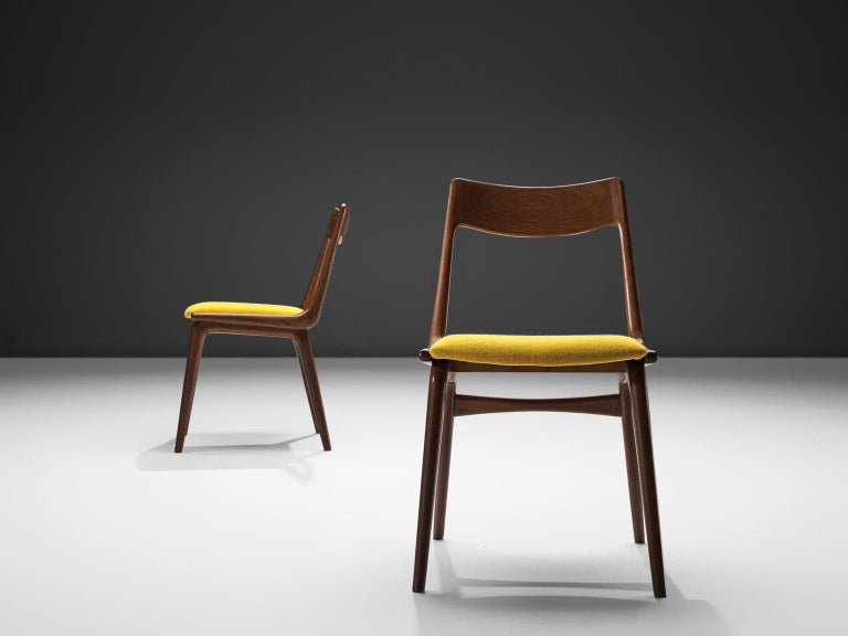 Alfred Christensen Set of 'Boomerang' Chairs in Teak In Good Condition For Sale In Waalwijk, NL
