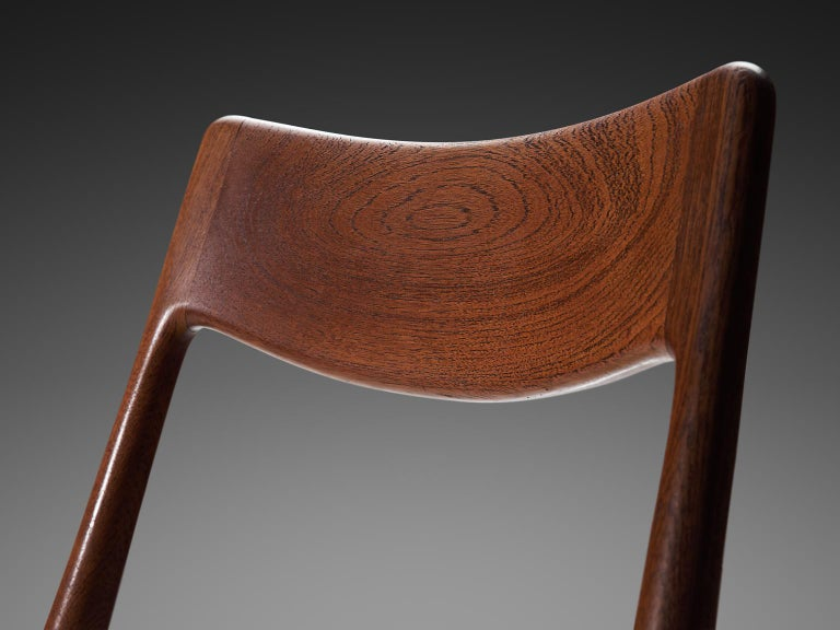 Mid-20th Century Alfred Christensen Set of 'Boomerang' Chairs in Teak For Sale