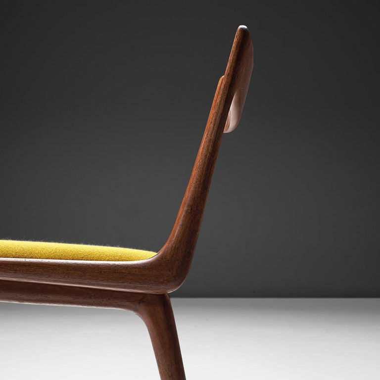 Fabric Alfred Christensen Set of 'Boomerang' Chairs in Teak For Sale