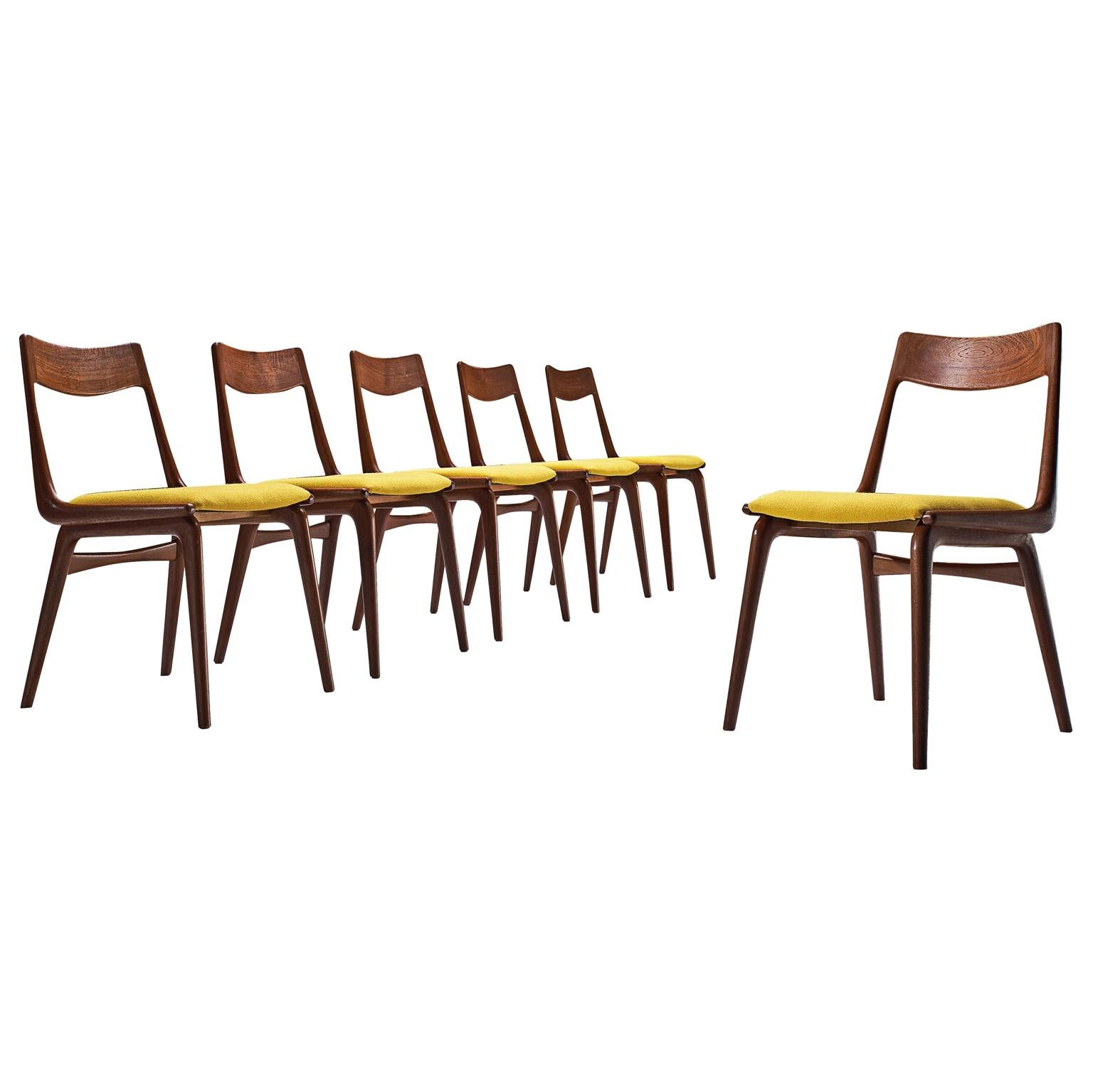 Alfred Christensen Set of 'Boomerang' Chairs in Teak