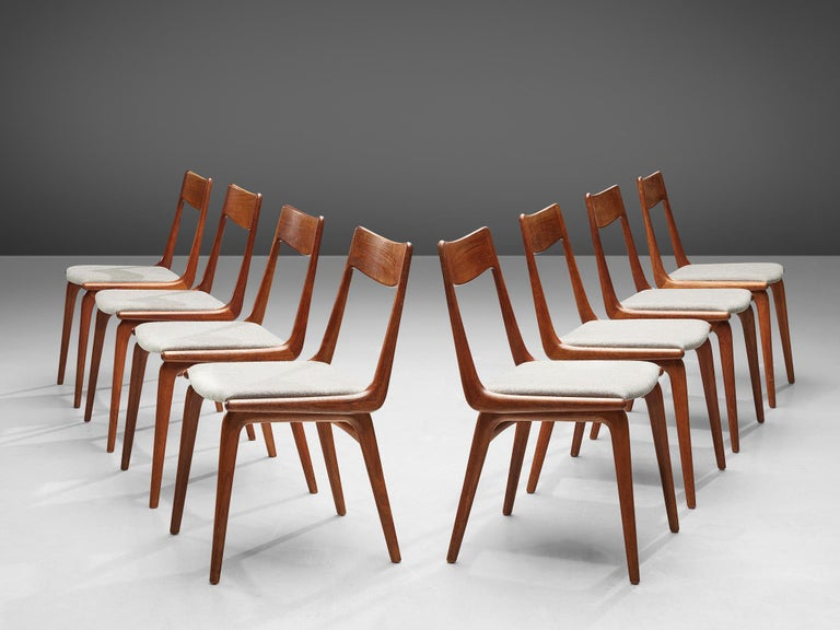 Alfred Christiansen 'Boomerang' Chairs In Good Condition For Sale In Waalwijk, NL