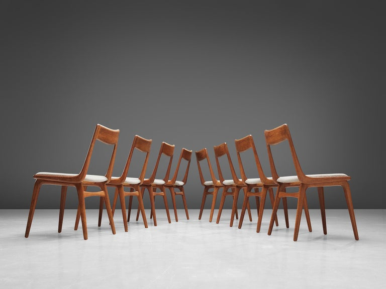 20th Century Alfred Christiansen 'Boomerang' Chairs For Sale