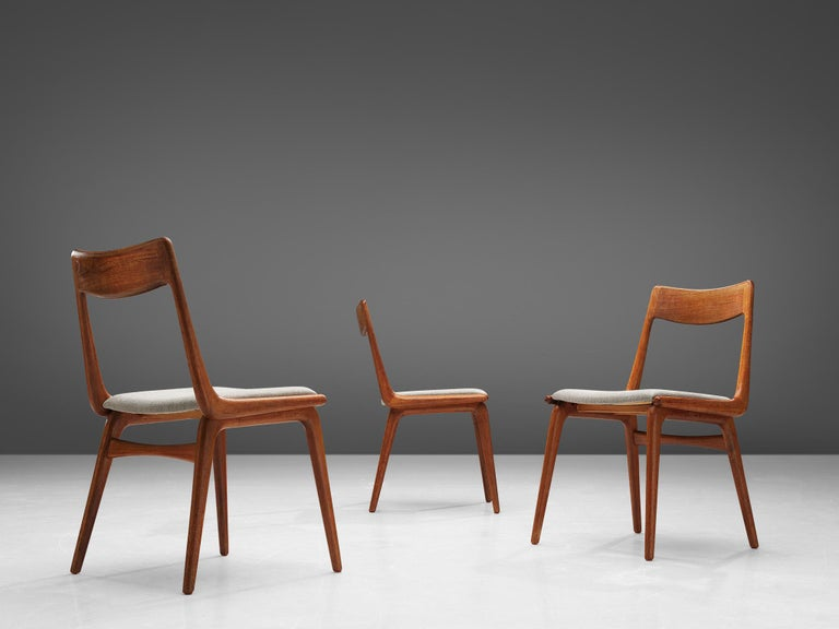 Fabric Alfred Christiansen 'Boomerang' Chairs For Sale