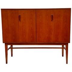 Alfred Cox for Heals Teak Drinks Highboard Drinks Cabinet / Sideboard, 1950s