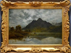 Twilight, Loch Ness - 19th Century Oil Painting Nocturne of Scottish Highlands