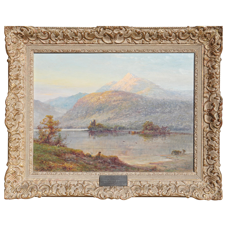 "Alfred De Breanski Jr. ""Invergary Castle Loch Oich"" Oil Painting"