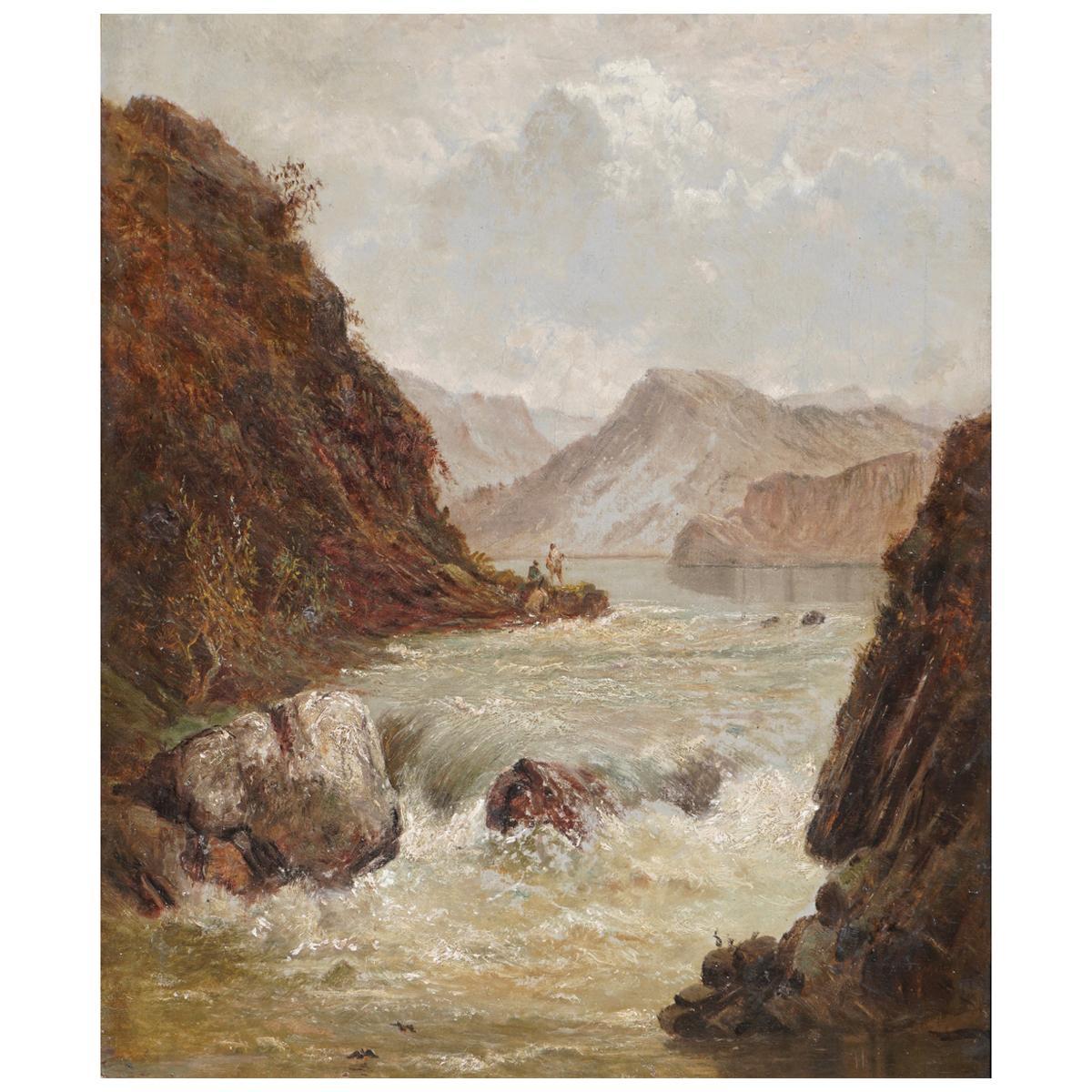 "Alfred De Breanski Sr. ""A Pole In The Highlands"""