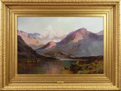 19th Century landscape oil painting of the Lake District