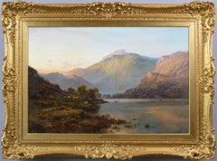19th Century Scottish landscape oil painting of Loch Lomond