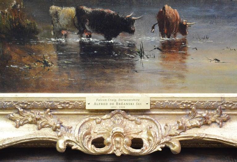 Falcon Craig, Derwentshire - Large 19th Century Landscape Oil Painting For Sale 7