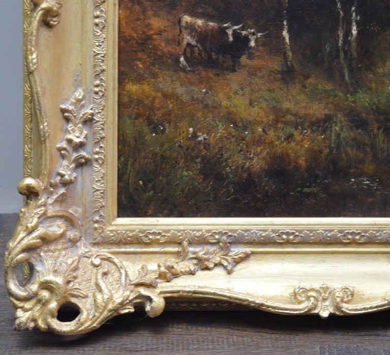 Falcon Craig, Derwentshire - Large 19th Century Landscape Oil Painting For Sale 8