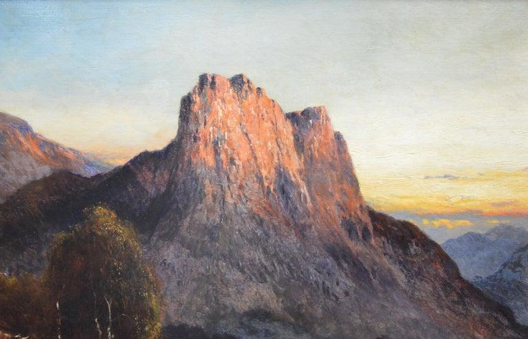Falcon Craig, Derwentshire - Large 19th Century Landscape Oil Painting For Sale 1