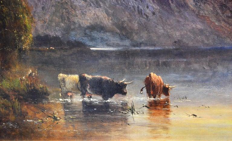 Falcon Craig, Derwentshire - Large 19th Century Landscape Oil Painting For Sale 2