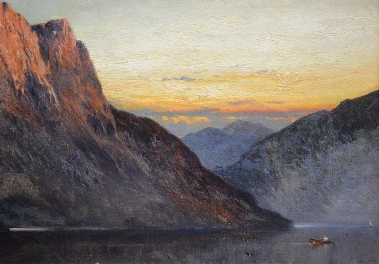 Falcon Craig, Derwentshire - Large 19th Century Landscape Oil Painting For Sale 3