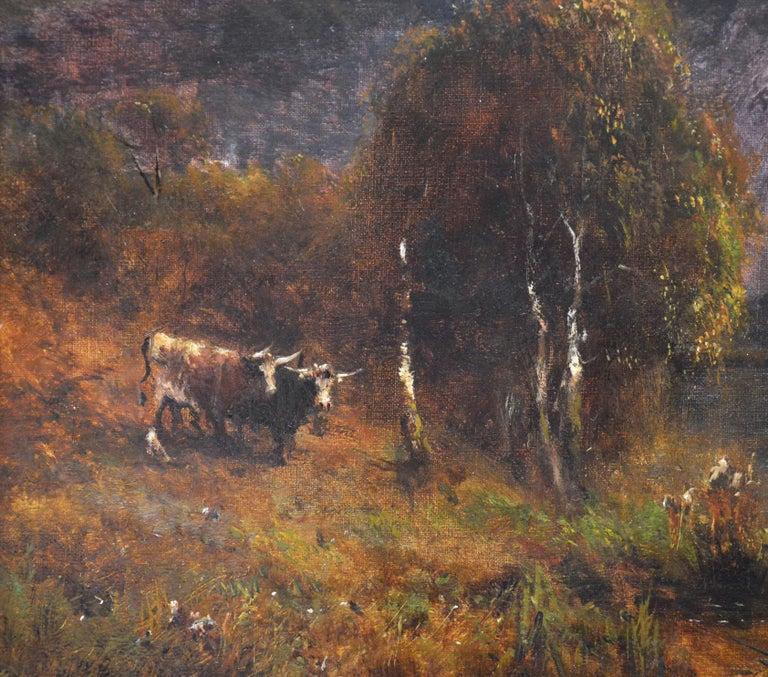 Falcon Craig, Derwentshire - Large 19th Century Landscape Oil Painting For Sale 4