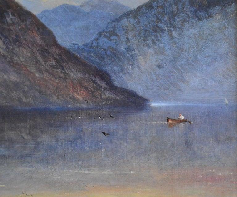 Falcon Craig, Derwentshire - Large 19th Century Landscape Oil Painting For Sale 5