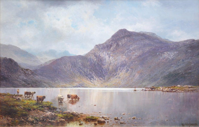 Lochnagar - 19th Century Landscape Oil Painting of the Scottish Highlands  For Sale 1
