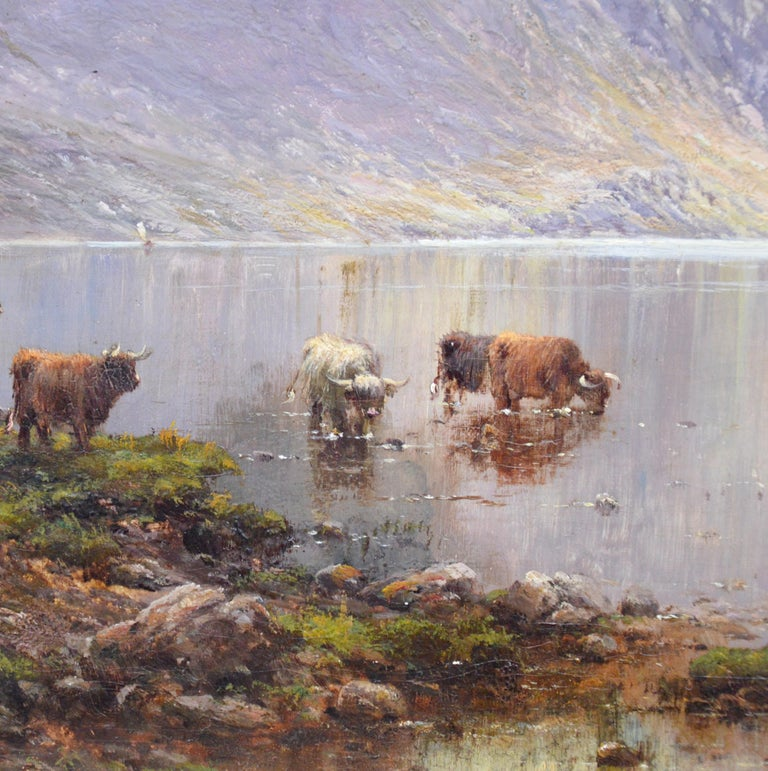 Lochnagar - 19th Century Landscape Oil Painting of the Scottish Highlands  For Sale 3