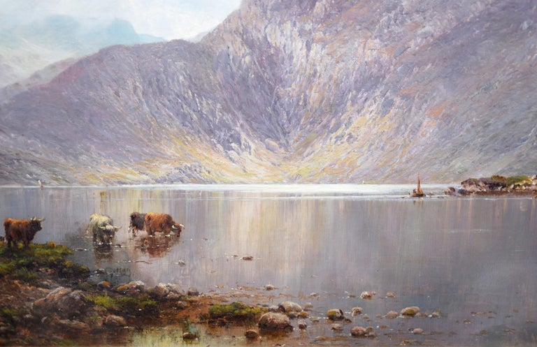 Lochnagar - 19th Century Landscape Oil Painting of the Scottish Highlands  For Sale 4