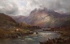 Scottish 19th Century Landscape painting 'The Highlands' Alfred de Breanski Snr