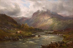 Scottish 19th Century Landscape painting 'The Highlands' Alfred de Breanski Snr