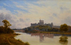 Windsor Castle from the Thames - 19th Century Royal Victorian River Landscape