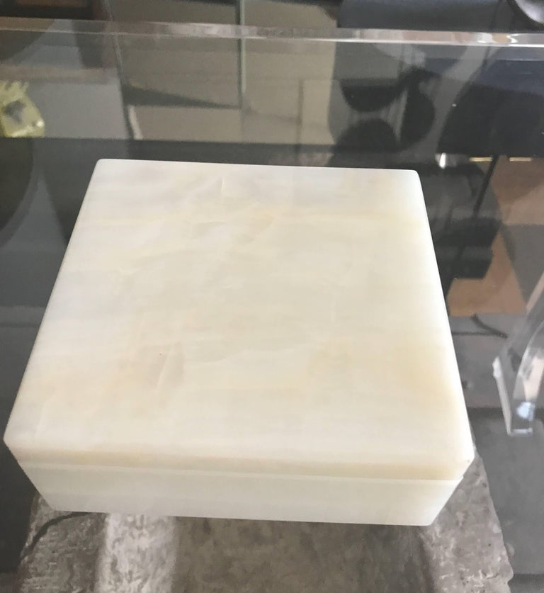 Alfred Dunhill Italian Onyx Square Trinket Box For Sale At