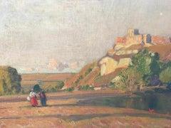 Chateau Gaillard, On The Seine A 19th Century French Landscape