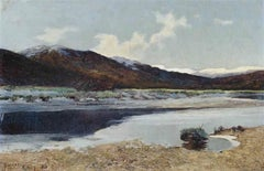 Lakes and Mountains A Scottish Landscape 19th Century by Sir Alfred East