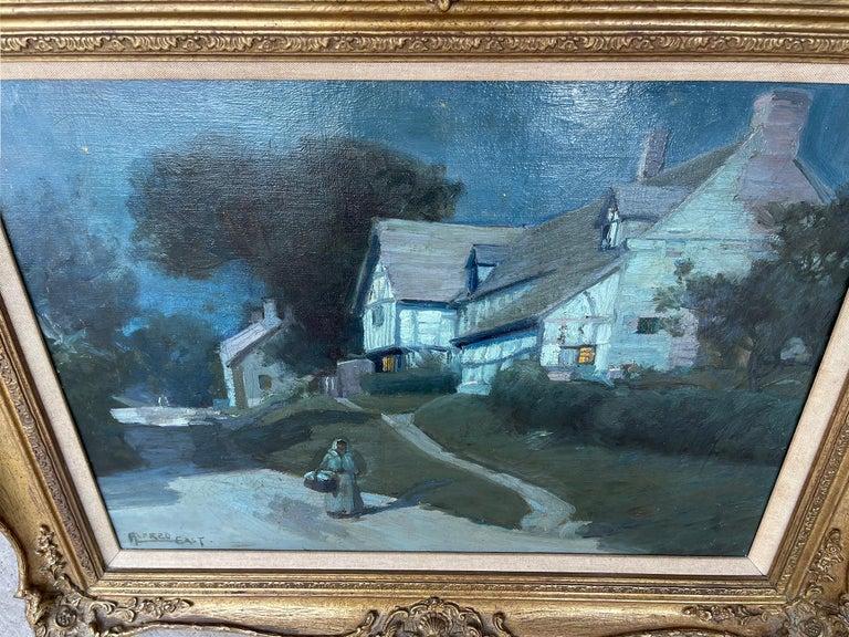 Moonlit Night in Blue - Moonlight - Barbizon painters For Sale 2