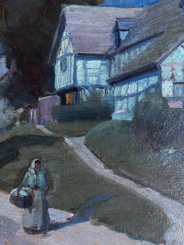 Moonlit Night in Blue - Moonlight - Barbizon painters For Sale 3