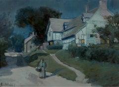 Moonlit Night in Blue - Moonlight - Barbizon painters