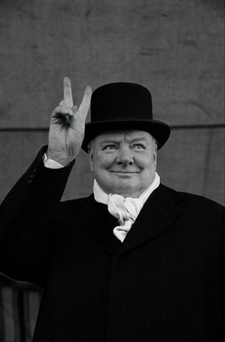 Winston Churchill, Liverpool, 1951 - Alfred Eisenstaedt  - Photograph by Alfred Eisenstaedt