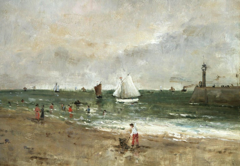 Figures on the Beach - Painting by Alfred Émile Léopold Stevens
