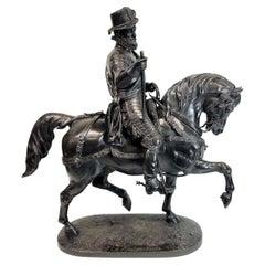 Alfred-Emilien O'hara, Comte De Nieuwerkerke Equestrian Bronze