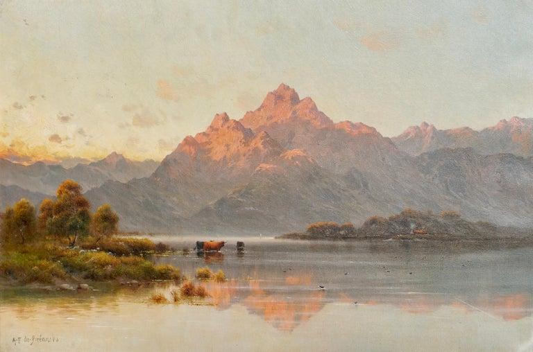 Alfred Fontville de Breanski, oil on canvas, titled verso