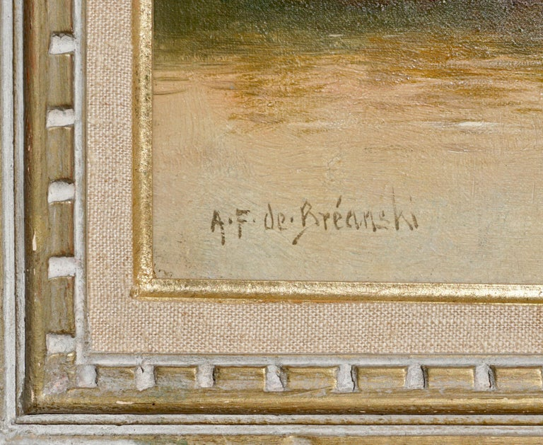 """British Alfred Fontville De Breanski """"Evening-Llyn Gerioneed, N. Wales"""