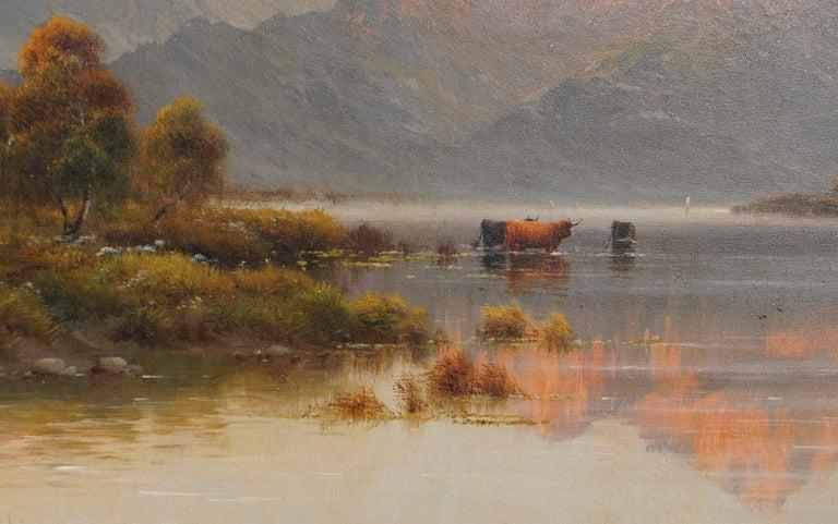 "Hand-Painted Alfred Fontville De Breanski ""Evening-Llyn Gerioneed, N. Wales"