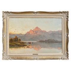 "Alfred Fontville De Breanski ""Evening-Llyn Gerioneed, N. Wales"""