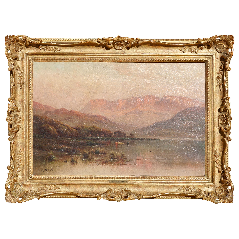 Alfred Fontville De Breanski North Wales Oil Painting