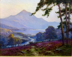 Loch Katrine and Brig O'Turk in the Trossachs - Landscape Oil Painting