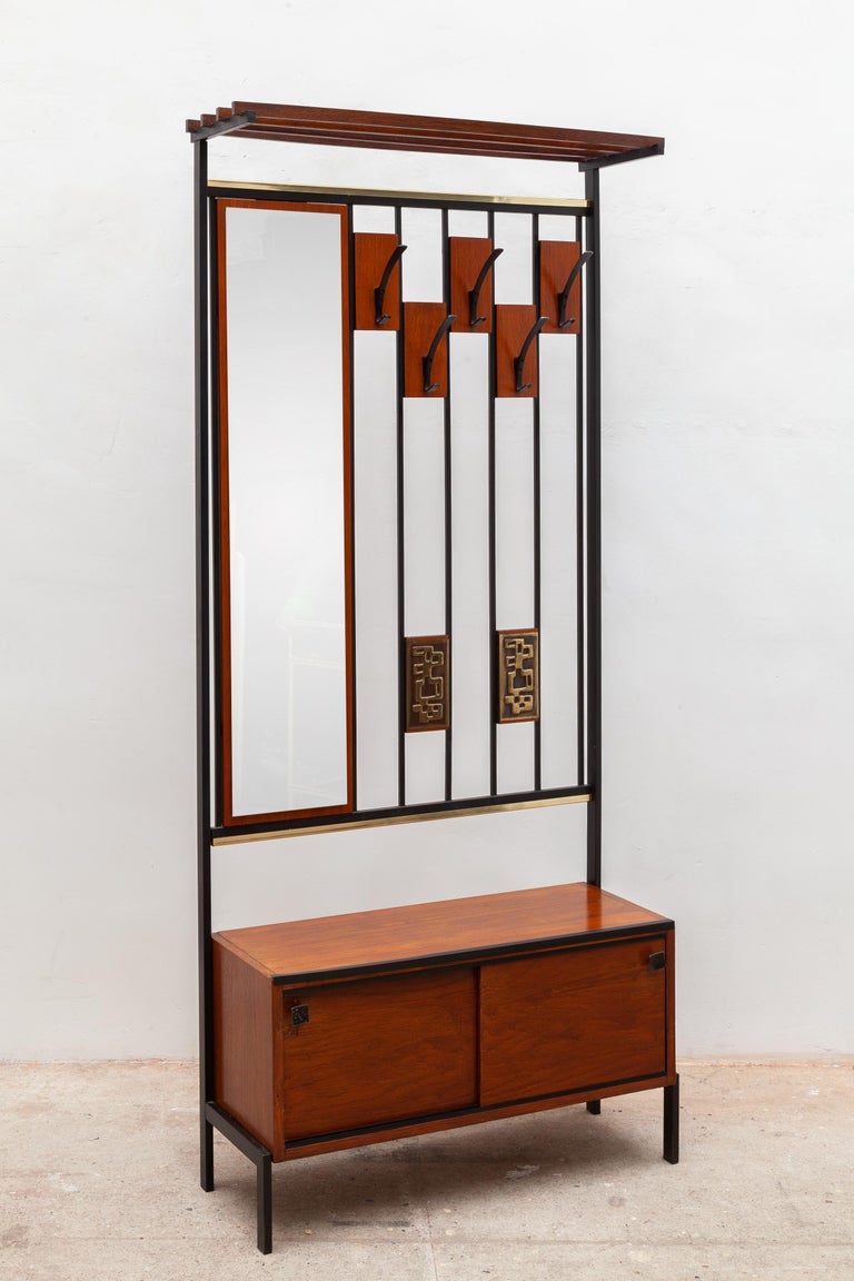 Alfred Hendrickx Coat And Hat Rack With Mirror 1960s Belgium For Sale At 1stdibs