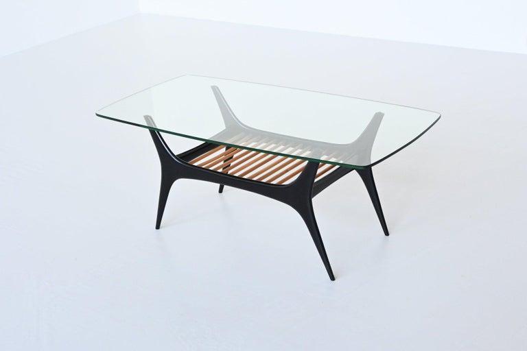 Mid-Century Modern Alfred Hendrickx Coffee Table Belform, Belgium, 1958