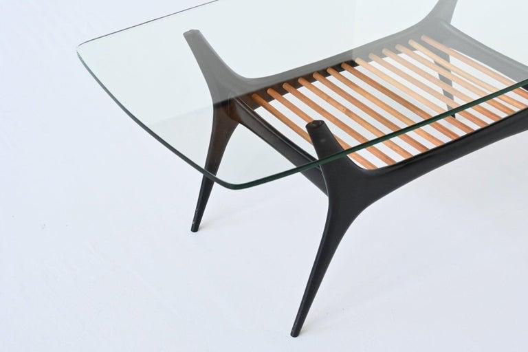 Glass Alfred Hendrickx Coffee Table Belform, Belgium, 1958
