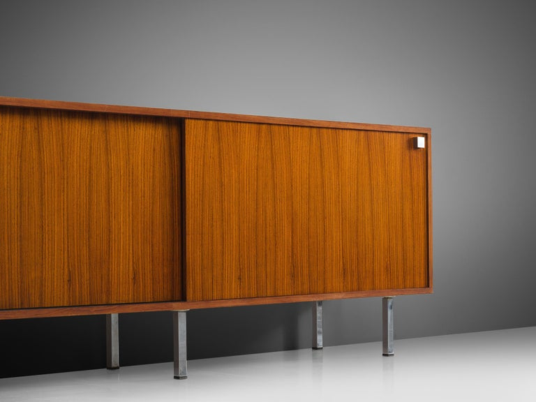 Metal Alfred Hendrickx for Belform Sideboard in Rosewood For Sale