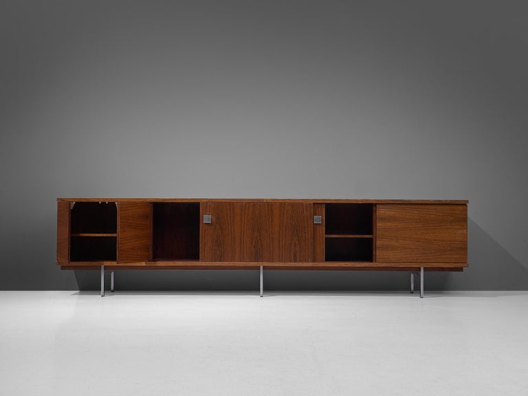 Alfred Hendrickx Large Sideboard in Rosewood In Good Condition In Waalwijk, NL