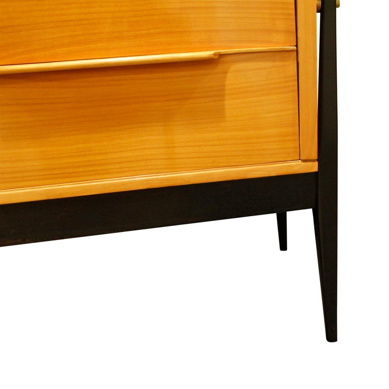 Alfred Hendrickx Large Credenza in Fruitwood, 1950s For Sale 1