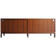 Alfred Hendrickx Mid-Century Modern Belgium Dark Wood Sideboard from 1950s